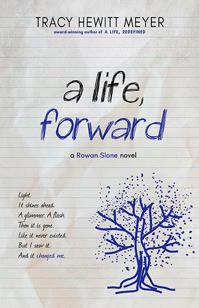 Book cover of A Life, Forward, the second book in the Rowan Slone series. Links to it's About the Book page on BHC Press's website.