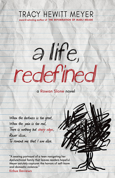 Image of the book cover of A Life, Redefined, the first book in the Rowan Slone series. Links to it's About The Book page on BHC Press's website.