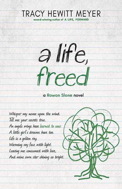 Book cover of A Life, Freed, the third book in the Rowan Slone series. Links to it's About the Book page on BHC Press's website.